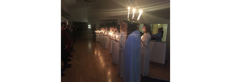Lucia optog 15.12.16 fra Ollerup Musikefterskole