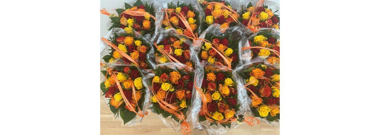 Støtteforeningen sender skønne blomster og lækker chokolade til patienter og pårørende